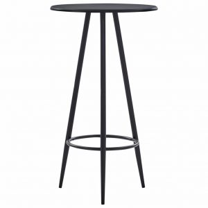 vidaXL Bar Table Black 60×107.5 cm MDF