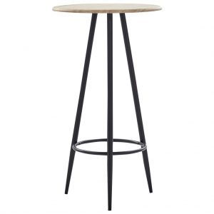 vidaXL Bar Table Oak 60×107.5 cm MDF