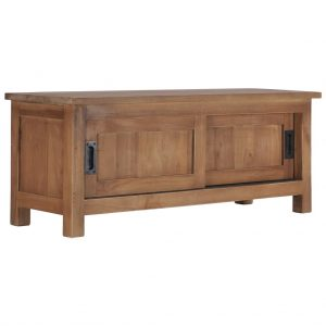 vidaXL TV Cabinet 90x30x35 cm Solid Teak Wood