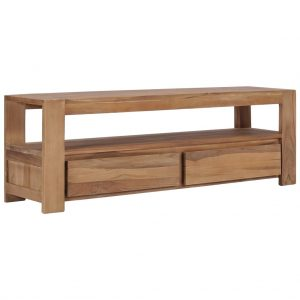vidaXL TV Cabinet 120x30x40 cm Solid Teak Wood
