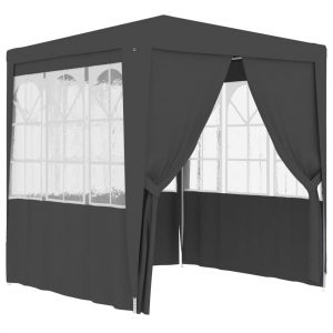 vidaXL Professional Party Tent with Side Walls 2.5×2.5 m Anthracite 90 g/m²