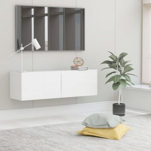 vidaXL TV Cabinet White 100x30x30 cm Chipboard