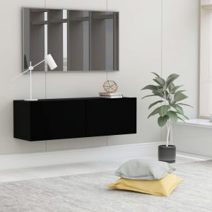 vidaXL TV Cabinet Black 100x30x30 cm Chipboard