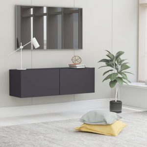 vidaXL TV Cabinet Grey 100x30x30 cm Chipboard