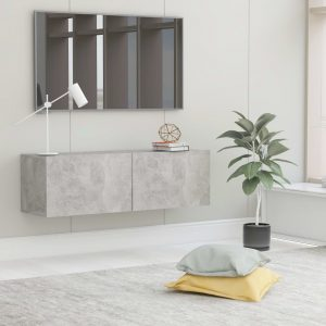 vidaXL TV Cabinet Concrete Grey 100x30x30 cm Chipboard