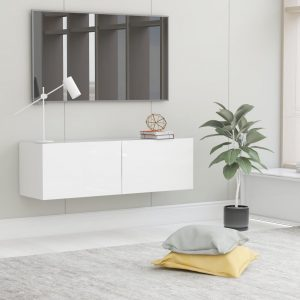 vidaXL TV Cabinet High Gloss White 100x30x30 cm Chipboard