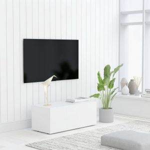 vidaXL TV Cabinet White 80x34x30 cm Chipboard