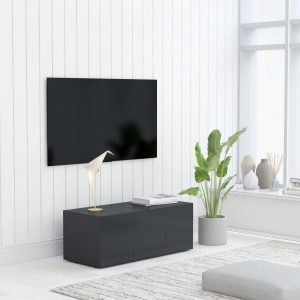 vidaXL TV Cabinet Grey 80x34x30 cm Chipboard