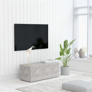vidaXL TV Cabinet Concrete Grey 80x34x30 cm Chipboard