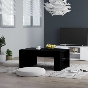 vidaXL Coffee Table Black 100x60x42 cm Chipboard