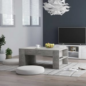 vidaXL Coffee Table Concrete Grey 100x60x42 cm Chipboard