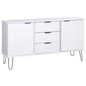 vidaXL Sideboard New York Range White Solid Pine Wood