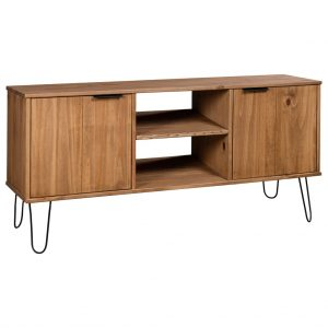 vidaXL TV Cabinet New York Range Light Wood Solid Pine Wood