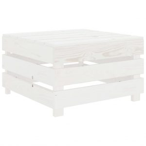 vidaXL Garden Pallet Table White Wood
