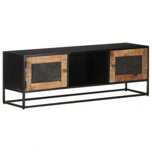 vidaXL TV Cabinet 120x30x40 cm Rough Mango Wood