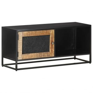 vidaXL TV Cabinet 90x30x40 cm Rough Mango Wood