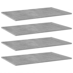 vidaXL Bookshelf Boards 4 pcs Concrete Grey 80x50x1.5 cm Chipboard