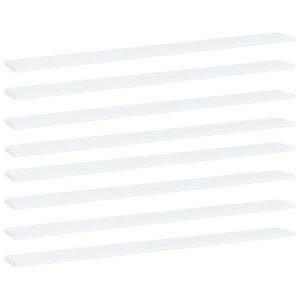 vidaXL Bookshelf Boards 8 pcs White 100x10x1.5 cm Chipboard