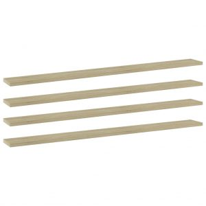 vidaXL Bookshelf Boards 4 pcs Sonoma Oak 100x10x1.5 cm Chipboard