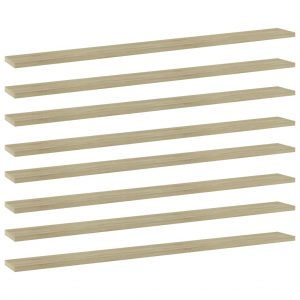 vidaXL Bookshelf Boards 8 pcs Sonoma Oak 100x10x1.5 cm Chipboard