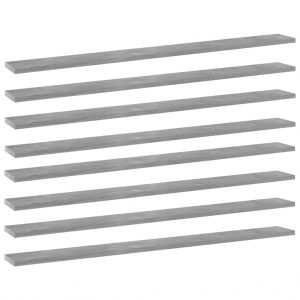 vidaXL Bookshelf Boards 8 pcs Concrete Grey 100x10x1.5 cm Chipboard