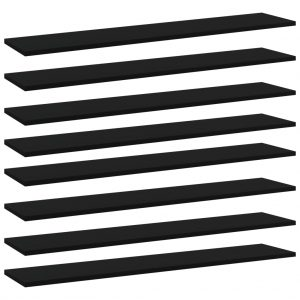 vidaXL Bookshelf Boards 8 pcs Black 100x20x1.5 cm Chipboard