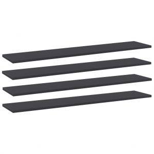 vidaXL Bookshelf Boards 4 pcs Grey 100x20x1.5 cm Chipboard