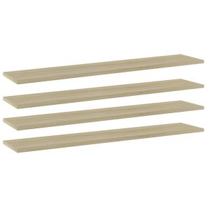vidaXL Bookshelf Boards 4 pcs Sonoma Oak 100x20x1.5 cm Chipboard
