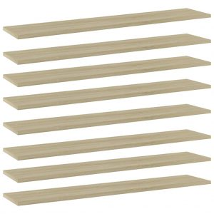 vidaXL Bookshelf Boards 8 pcs Sonoma Oak 100x20x1.5 cm Chipboard