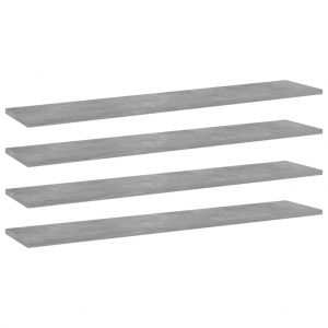 vidaXL Bookshelf Boards 4 pcs Concrete Grey 100x20x1.5 cm Chipboard