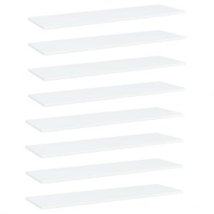 vidaXL Bookshelf Boards 8 pcs White 100x30x1.5 cm Chipboard