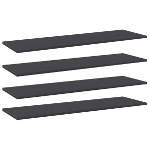 vidaXL Bookshelf Boards 4 pcs Grey 100x30x1.5 cm Chipboard