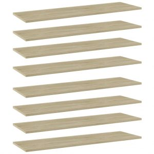 vidaXL Bookshelf Boards 8 pcs Sonoma Oak 100x30x1.5 cm Chipboard