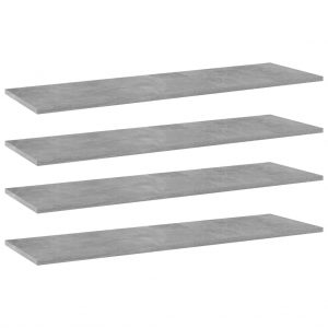 vidaXL Bookshelf Boards 4 pcs Concrete Grey 100x30x1.5 cm Chipboard