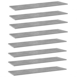 vidaXL Bookshelf Boards 8 pcs Concrete Grey 100x30x1.5 cm Chipboard