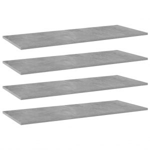 vidaXL Bookshelf Boards 4 pcs Concrete Grey 100x40x1.5 cm Chipboard