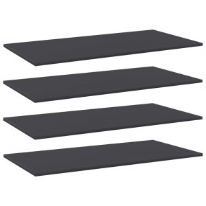 vidaXL Bookshelf Boards 4 pcs Grey 100x50x1.5 cm Chipboard