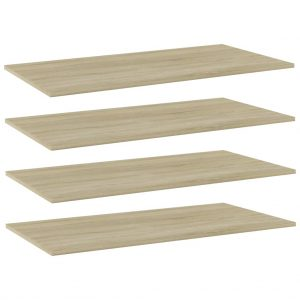 vidaXL Bookshelf Boards 4 pcs Sonoma Oak 100x50x1.5 cm Chipboard