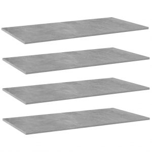 vidaXL Bookshelf Boards 4 pcs Concrete Grey 100x50x1.5 cm Chipboard