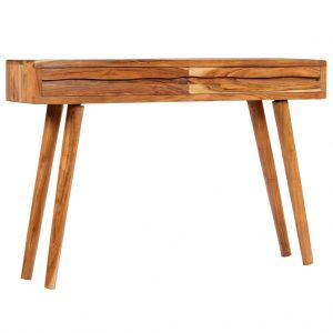 vidaXL Console Table Solid Acacia Wood with Carved Drawers 118x30x80cm