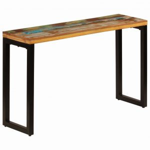 vidaXL Console Table 120x35x76 cm Solid Reclaimed Wood and Steel