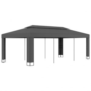 vidaXL Gazebo with Double Roof 3×6 m Anthracite